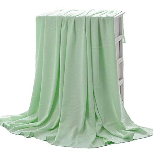 Bluestar coperta in bambù naturale, morbido e traspirante grande coperta/letto divano a 2posti, 150x 200 Verde
