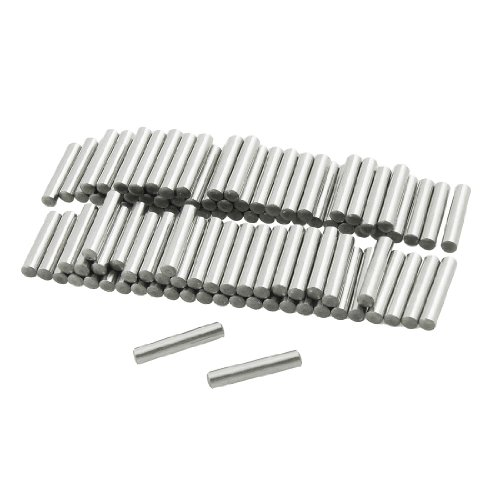 uxcell 10Pcs 3mm x 50mm Dowel Pin 304 Stainless Steel Wood Bunk Bed Dowel Pins Shelf Pegs Support Shelves Silver Tone