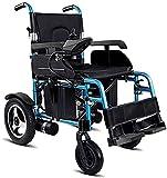 MENG Aluminum Alloy Electric Wheelchair Easy Folding Lightweight Smart Four-Wheel Scooter Elderly Disabled Wheelchair