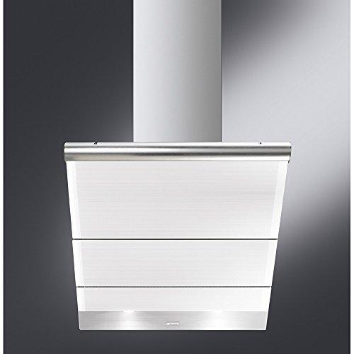 Smeg KTS75BCE Incassato Acciaio inossidabile, Bianco 549m³/h A+ cappa aspirante