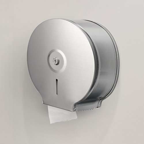 Alpine Industries Jumbo Toilet Tissue Dispenser - Brushed Stainless Steel - 9 Inch Roll with 2.5 Core