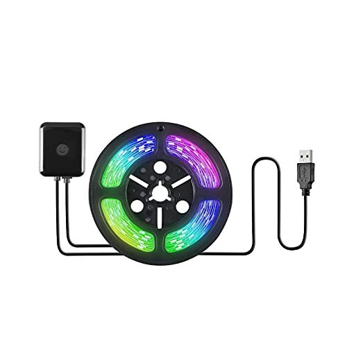 Taloit Tira de luces LED, luces LED para dormitorio, iluminación multicolor que cambia de color para decoración del hogar de la cocina