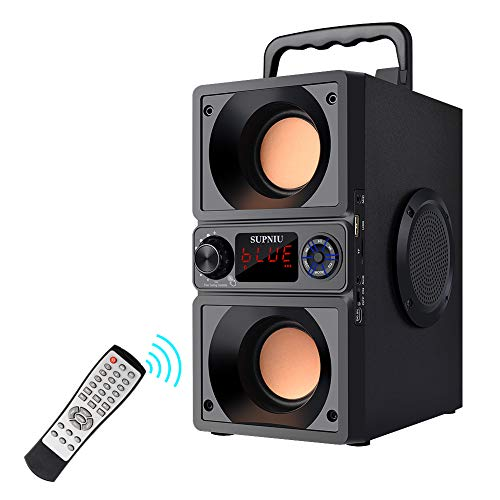 Portable Bluetooth Speakers with Double Subwoofer Heavy Bass, 30W Stereo...