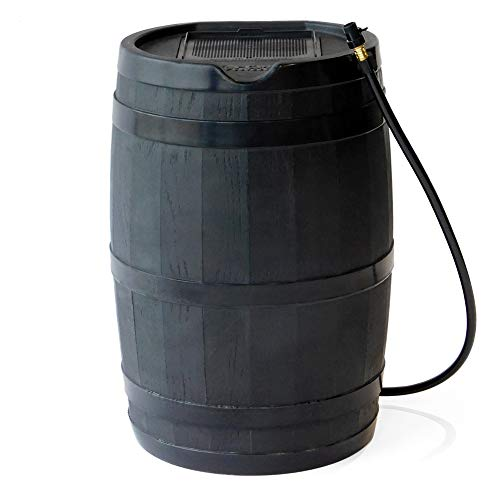 FCMP Outdoor RC45 Rain Barrel, Black