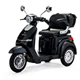 VELECO 3 Wheeled Electric Mobility Scooter 1000W Cristal (Black)