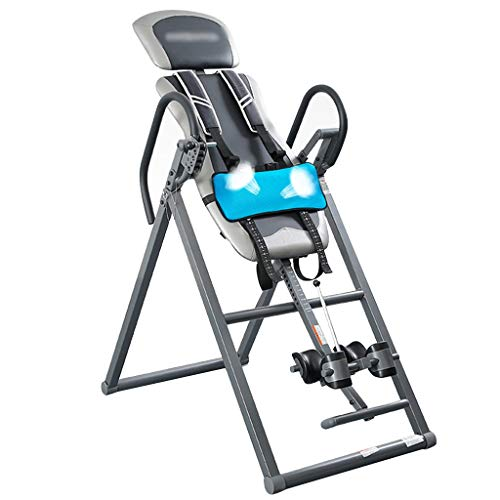 Schwerkrafttrainer Deluxe Inversionsbank Multifunktions Inversions Rücken Trainer, Faltbare Inversionsausrüstung, Men Therapeutic Inversion Table, Tragfähigkeit 120 Kg