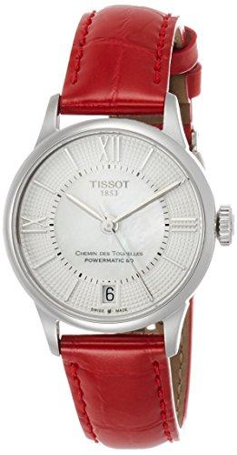 Tissot Damen-Uhren Analog Automatik One Size Rot/perlmutt 32000648