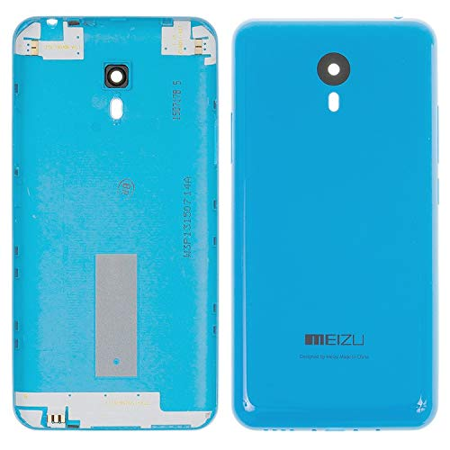 Piezas de repuesto de la cubierta trasera de la batería de la carcasa compatible con Meizu M2 Note, (azul)