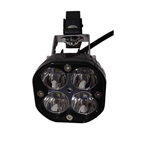 Luces LED universales de la Motocicleta 6500 LM Proyector a Prueba de Agua a Prueba de Agua Bombilla 12V 4 Lámpara Perlas Faro de la Motocicleta 2 Piezas PhareconViente para la modernización de Luces
