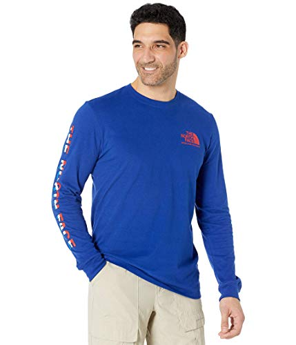 The North Face Men's L/S USA Tee, Bolt Blue, S