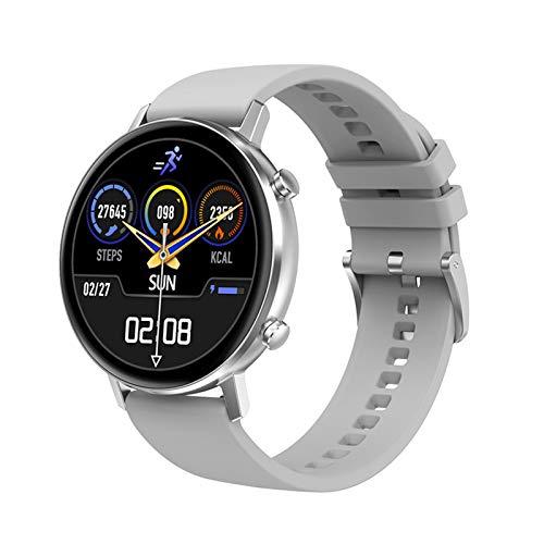 WEINANA Smart Watch Frauen Männer 1,3 Zoll Full Touch Smart Armband Multisport Fitness Tracker Herzfrequenzmesser Smartwatch(Color:C.)