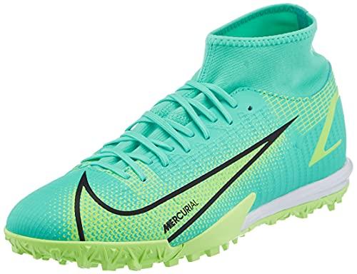 Nike Superfly 8 Academy TF, Scarpe da Calcio Unisex-Adulto, Dynamic Turq/Lime Glow-off Noir, 46 EU