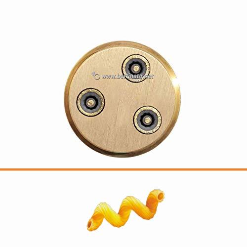 Trafila in bronzo per Amori Cellentani Cavatappi per macchina pasta fresca professionale VIP/2 2,8kg e VIP4 4kg e compatibile FIMAR MPF 2,5 e MPF 4