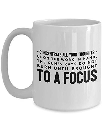 Erfinder Kaffeetasse - Konzentrieren Sie alle Ihre Gedanken auf - Erfindung Kreativität Innovator Wissenschaftler Ingenieur Ingenieur Techniker Telefon