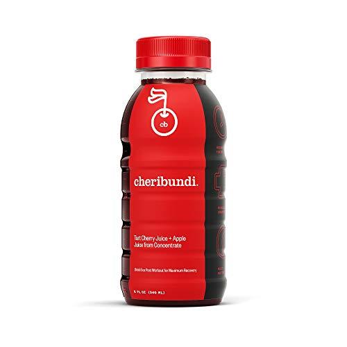 Cheribundi ORIGINAL Tart Cherry Juice - 50 Tart Cherries Per 8 Fl Oz Serving (Pack of 12), 100% Juice Naturally Sweetened, Hint of Apple, Reduce Soreness, Recover Faster, Boost Immunity, Improve Sleep