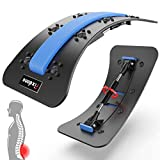 Fixdono Adjustable Back Stretcher with Massage Acupressure Points, Lumbar Stretching Massager for Back Pain Relief