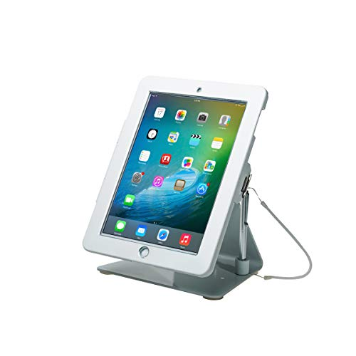 CTA Digital: Desktop Anti-Theft Stand for Tablets and Smartphones, White