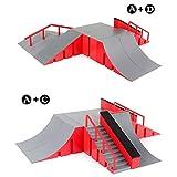 Cokeymove Fingerboard Skate Park Kit, Ramp Parts Mini Finger Skateboard Parks avec 1 Finger Skateboard pour Les Accessoires De Formation Finger Skateboard 4 Choix