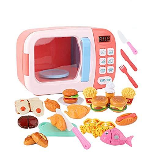 Mikrowelle Spielzeug, Küche Kochen Vorgeben, Spielen Gefälschte Lebensmittel, Mit Lichtern Und Sounds Für Kinder Kleinkinder Jungen Mädchen Geburtstag Weihnachtsfeier Geschenk, Alter 3 Und Älter