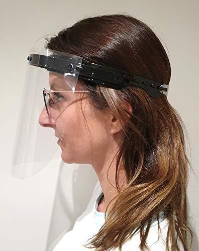 Visier Gesichtsschutz 180 Grad verstellbar - Klappvisier aus robustem Kunststoff – Face Shield – Schutzschild (1)