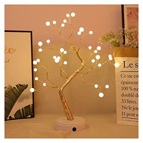 MGCD Luces de árbol LED Blanco Blanco USB Bonsai Árbol Luz Luz Ajustable Batería Deco Deco Iluminado pequeño Árbol Iluminación Interior de Deco para Navidad de Acción de Gracias (Color : B)