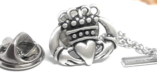Menz Jewelry Accs Sterling Silver Claddagh Lapel PIN/TIE TAC Manufacturer Direct Pricing