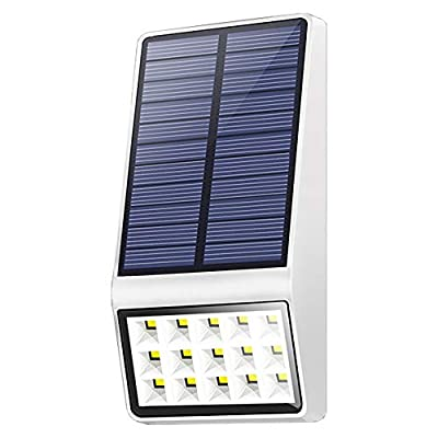 Solar Motion Sensor Lights Outdoor,AVEKI 15 LED Solar Wall Lights Wireless Waterproof Solar Powered Security Light for Garden Patio Yard Fence Path Step Deck