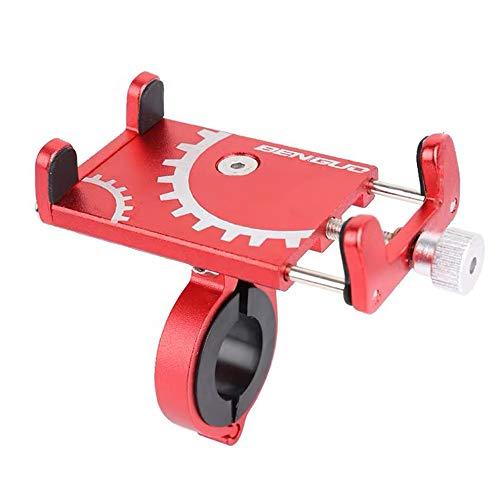 Lixada cykeltelefonhållare universal cykel motorcykel styre clip stativhållare mobilhållare för bredd 60–100 mm mobil, smartphone