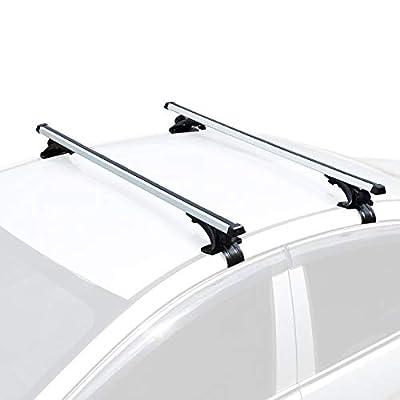 "AUXMART 48"" Universal Bare-Roof Mounted Roof Rack Cross Bar Set, Aluminum"