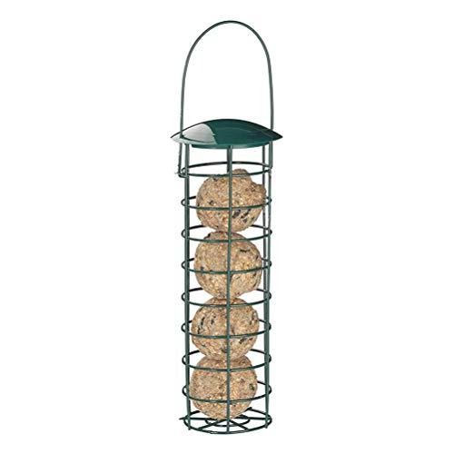 BovoYa Vogelfutterstation Aussetzung Futterspender wiederbefüllbare Wildvogel Futterstation Futtersäule für Spatzen Und Andere Wildvögel