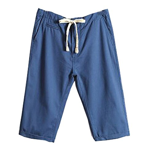 New Style Summer Casual coton shorts de plage pour hommes, Bleu