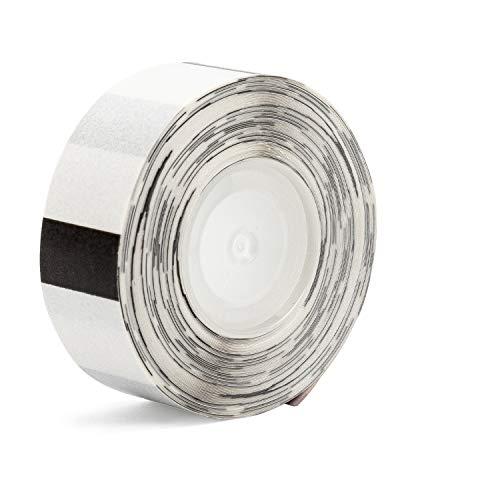 Bisofice Papel de etiqueta transparente Rollo de papel térmico autoadhesivo 14 * 25 mm 250 hojas/rollo para impresora térmica Phomemo D30 para organización de oficina en casa