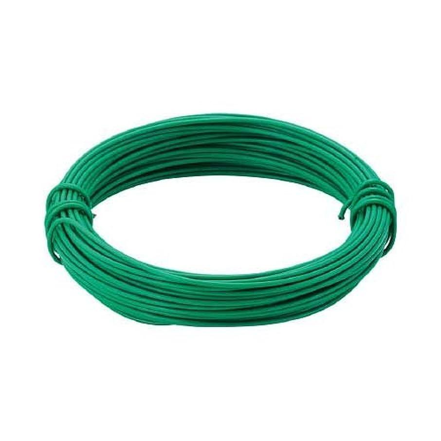 繕うの前でヒップTRUSCO(トラスコ) カラー針金 ビニール被覆タイプ グリーン 線径0.9mm TCW-09GN