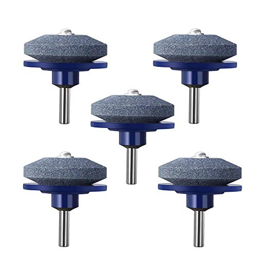 JAHUL Lawn Mower Blade Sharpener for Power Drill Hand Drill - 5 Pack