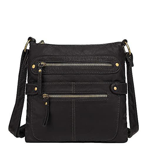 Scarleton Small Crossbody Bags for Women, Purses for Women, H182001, Black