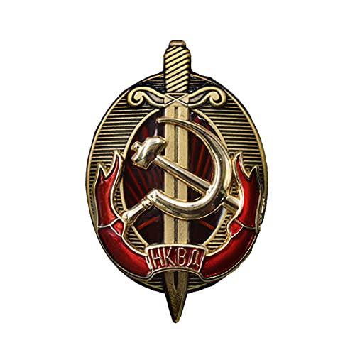 Medalla soviética,broche de medalla histórica,insignia de la NKVD de la URSS,regrabado de la medalla de la KGB soviética,insignia conmemorativa de metal,medalla de recuerdo,insignia de medalla militar