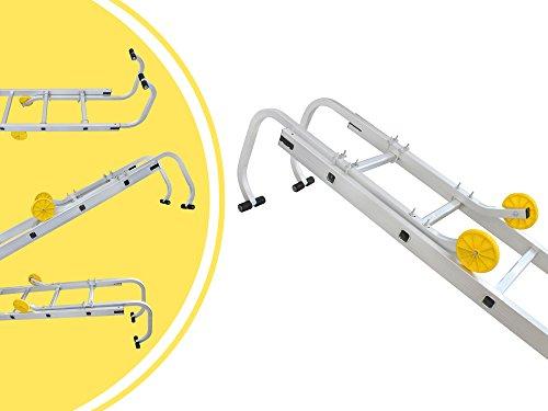 Leogreen - Leiter-Dachhaken, Haken für Leitern, 0,93 Meter, EN 131, Maximale Belastbarkeit: 150 kg