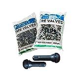 Perfect Equipment Juego de válvulas de Goma 100x TR413 y TR414, Válvula del neumático, Válvula de Goma TR413 + TR414, Válvulas de Goma