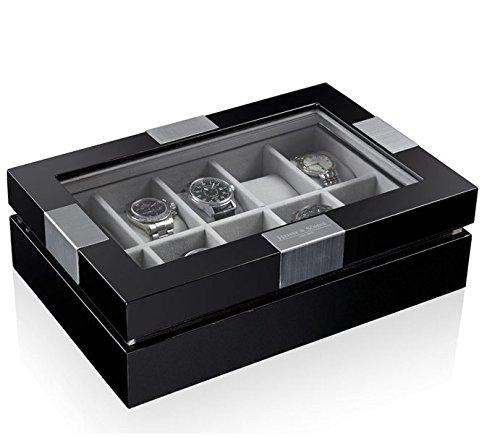 Heisse & Söhne horlogebox Executive voor 10 horloges zwart 108457