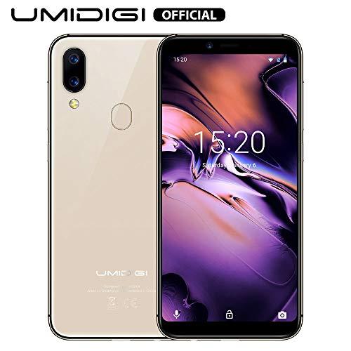 UMIDIGI A3 (2019), Offerte Cellulari 5.5 pollici, Triplo Slot 2 Nano SIMs+1 MicroSD, Android 9.0 Pie Smartphone Offerta del Giorno, Quad-Core 2GB+16GB, Batteria 3300mAh, Fotocamera 12MP+5MP - Oro