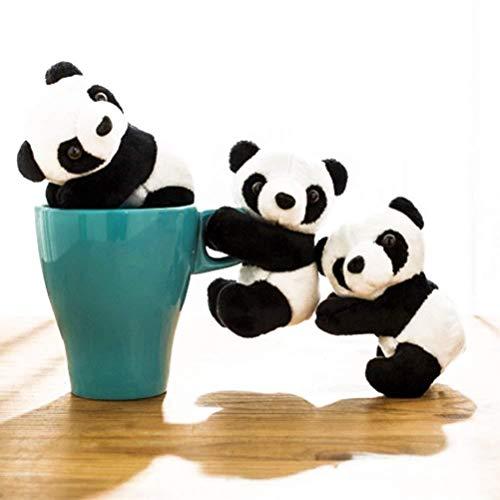 2 Pcs Finger Panda Plush Panda Clip Cute Panda Plush Toy Panda Clip Relaxation Toys Finger Toy Kids Toy Home Decoration, 4 Inch