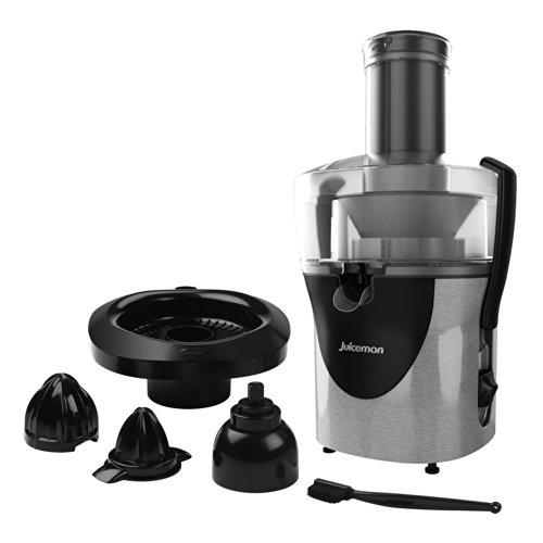 Juiceman JM8000S All-in-One Juice Extractor, Stainless Steel/Black