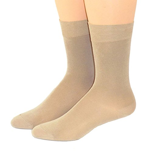 Shimasocks Herren Damen Socken uni gasiert- mercerisiert, Farben alle:beige, Größe:35/38