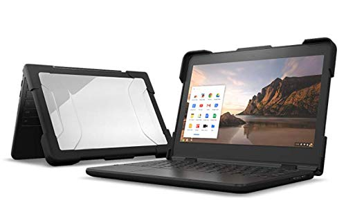 """MAXCases EdgeProtect Single-Side Case for HP Chromebook 11"""" G6 EE - Budget-Friendly Top-Only Laptop/Chromebook Case, Added Corner Protection (Black)"""