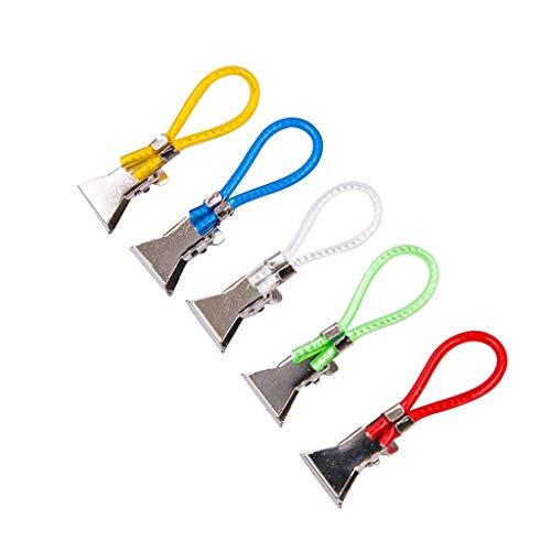 Barcley Durable Tea Towel Hanging Clips Dishcloth Hanger Clip On Hook Loops Hand Towel Hangers 5Pcs Pot Holder Hook Home Travel Hanging Laundry Hooks Clip (Multicolor)