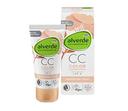 alverde NATURKOSMETIK Getönte Tagescreme Perfekter Teint Color Correction Porzellanblume, 50 ml