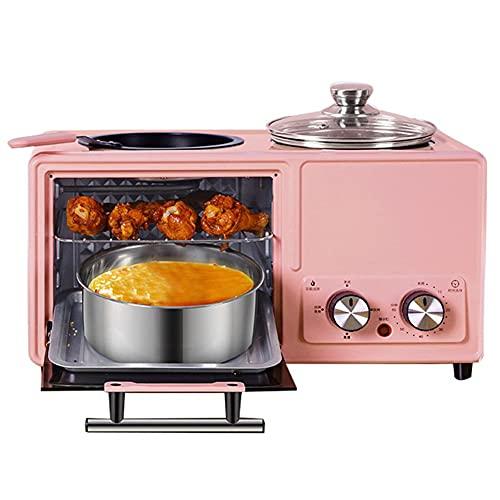 Máquina de Desayuno Multifuncional,máquina de Comidas nutritivas 4 en 1, Cocina eléctrica multifunción Profesional,cocción al Vapor,hervir,freír,Asar para Hornear Pasteles Huevos al Vapor Cocina