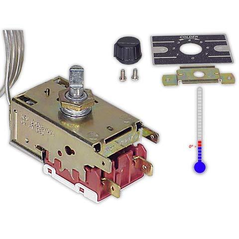 DOJA Industrial | Termostato frigorífico BOTELLERO K50 L03046 | B=120 cm (-17/-9|-6/+2) contacto | Refrigerador con bulbo capilar 1200mm | Frigorífico 2 puertas