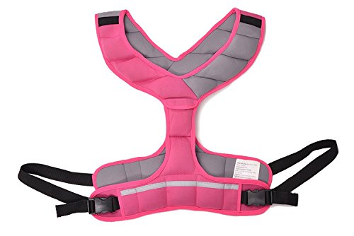 8lbs (3.6kg) weighted vest made for women Made from synthetic rubber, a sustainable resource Adjustable form-fitting design with quick-release buckle Great for walking, running, and other activities Ideal for physical fitness and healthy living