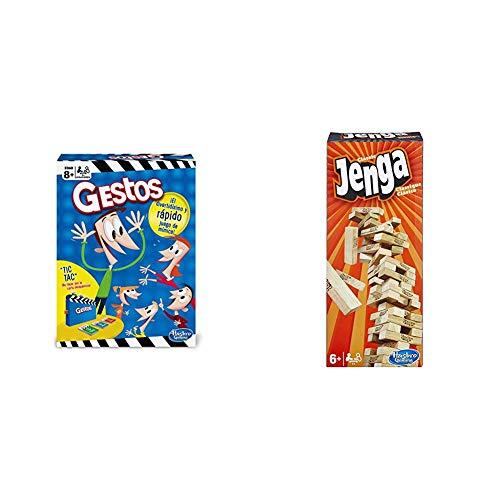 Hasbro Gaming Gestos (Versión Española) (B0638105) + Jenga Classic, única (A2120EU4)